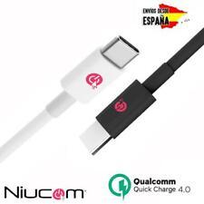 Cable USB tipo C PD Niucom para carga rápida Qualcomm 4.0 para móvil y tablet