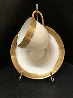 Limoges Cowell And Hubbard Cleveland Demitasse Expresso Set Gold Encrusted Rim