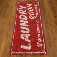 "Laundry Room Runner Rug 20"" x 59"" Non-Slip Rubber Backing Area Rug Looks Great"