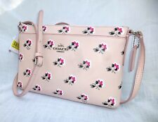 NWT COACH FLORAL PRINT CROSSGRAIN LEATHER SWINGPACK CROSSBODY BAG 53358