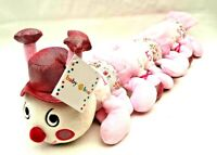 Baby Boo Pink Floral Numbers Counting Caterpillar Hat Soft Plush Learning Toy