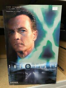 "Boxed THE X FILES FBI Agent JOHN DOGGETT 12"" Action Figure SIDESHOW Doll 05 RARE"