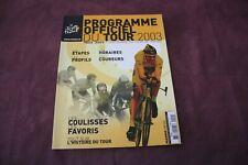PROGRAMME OFFICIEL DU TOUR DE FRANCE 2003