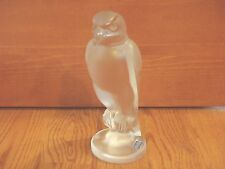 Cristal De Sevres ~ Frosted Crystal Falcon Bust Statues Figure ~ NEW