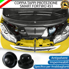 COPPIA TAPPO COPRIFARO CUFFIA IN GOMMA SMART FORTWO 451 ANABBAGLIANTI LED E XENO