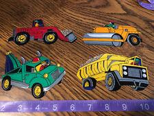 Toy Trucks fabric iron on appliqués (style#1)
