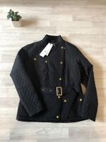 Barbour International Womens Hairpin Baffle Quilted Jacket Uk Size 10 Barbour