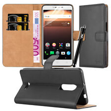 Alcatel A3 XL Phone Case, Leather Wallet Flip Book Stand View Case Cover