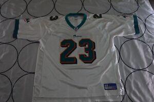 Men Reebok On Field Miami Dolphins NFL Ronnie Brown #23 White Jersey XXLARGE 2XL