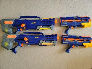 2 nerf longshot cs-6 collection combo nerf gun lot cs 6
