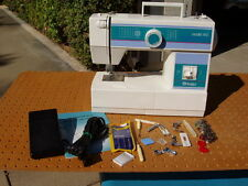 HUSQVARNA VIKING MODEL 140 SEWING MACHINE + MANUAL ACCESSORIES EXCELLENT COND