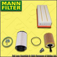 SERVICE KIT AUDI A3 (8P) 2.0 TDI MANN OIL AIR FUEL FILTERS FF=142MM (2003-2006)