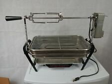 Vtg Farberware Open Hearth Electric Indoor Broiler Rotisserie Bbq Barbeque Grill