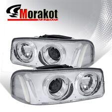 For 00-06 GMC Yukon Dual Halo Projector Pair Clear Headlights Signal Reflector