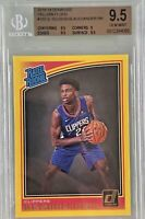 Shai Gilgeous-Alexander 2018-19 Panini Donruss Rated Rookie Yellow Flood BGS 9.5
