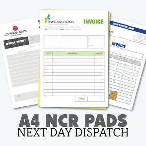Personalised A4 Duplicate Invoice Book • Order Book • NCR Pad • Receipt Pad