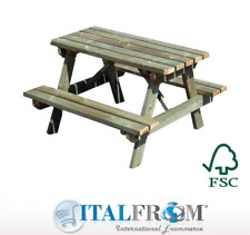 Children's picnic table in Scots pine H70.5xL150xW131cm Italfrom