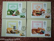 PHQ Stamp cards FDI (Front) 116 Food and Farming 1989 4 card set. Mint Condition