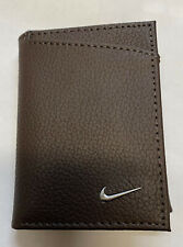 NIKE Brown Trifold   Leather Wallet Billfold S16871200 69770