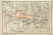 MERANO Mappa Touring Club 1920 Carta geografica