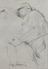 Jacques VILLON (d'après) -  Le repos du soldat - Croquis signé  #1959