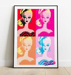 Barbie inspired Pop Art Print, Barbie Art Print, Gift for her, Wall Art, Poster