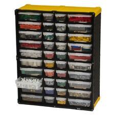 Small Parts Organizer Storage 40 Compartment Plastic Tool Cabinet Bin Drawer NEW