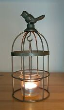 Song Bird Metal Tea Light Holder Candle 22cm Votive Table Cage Ornament New