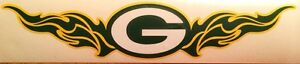 """Green Bay Packers NFL Decal 2.5""""x12"""" Vinyl Sticker 3 Colors **FREE SHIPPING**"""