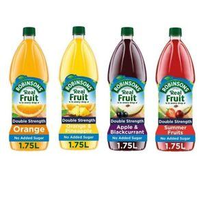 Robinsons Orange,Orange & Pineapple,Apple & Blackcurrant,Summer Fruits Squash