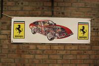 Ferrari Daytona Grande PVC Bandera Taller Taller Coche Muestra Bandera