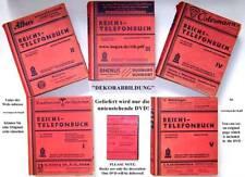 Reichs-Telefonbuch. 44. Ausgabe, Berlin 1942, 5 Bände als digitales Faksimile