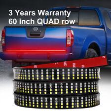 "60"" Quad Row LED Strip Tailgate Bar Truck Car RV Brake Reverse Turn Signal Light"