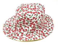 Summer Two-Sided Hat, Cottage Reversible Headwear, Yellow (Lemon) / Red (Cherry)
