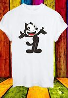 Felix The Cat Funny Cartoon Character Inky & Winky Men Women Unisex T-shirt 705