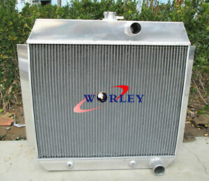 3 ROW Aluminum Radiator for 1951-1953 CHEVY L6 Bel Air cars W/COOLER 51 52 53
