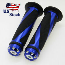 "US FXCNC Racing Blue Rubber Gel Hand Grips Fit For 7/8"" Handlebar Sales"
