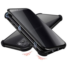 Metal Magnetic Absorption Case For iPhone 11 Pro Max Double Glass Cover Privacy