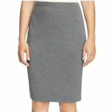 c3194313738 3X  218 NWT EILEEN FISHER The Icons Washable Wool Crepe ASH Grey K L Skirt