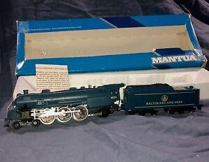 HO Scale Mantua 4-6-2 B&O Engine and Tender