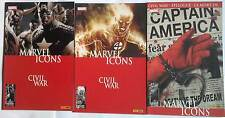 Lot MARVEL ICONS 28 + 29 + 30(Panini Marvel France)  COLLECTOR- CIVIL WAR