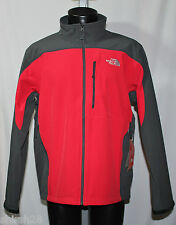 The North Face Mens Apex Bionic Jacket - TNF Red Asphalt Gray - Medium - NWT