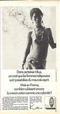 PUBLICITE ADVERTISING 014 1969 KOTEX hygiène féminine  serviette