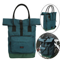 Tourbon Bike Bag Saddle Pannier Backpack Tote Bag Rucksack Satchel Blue Nylon