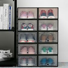 6pc Transparent shoe box storage shoe boxes thickened dustproof shoes organizer