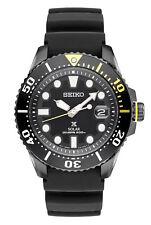 New Seiko SNE441  Men's PROSPEX Solar Dive Black Dial Rubber Strap Watch