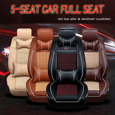 New 3D Luxury Full Seat Cover PU Leather Car Seat Cover Cushion Pad Breathable