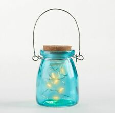 Blue Glass Fairy Light Jars Rustic Wedding Table Decor Party Lanterns MW36913