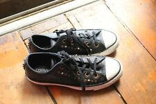 CONVERSE All Star Leather Black Pointy Studs Lace-up Sneakers Size M' 4 /W's  6