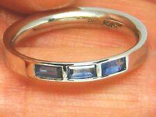 18ct Gold 18K white Gold Ceylon Sapphire Eternity ring size N